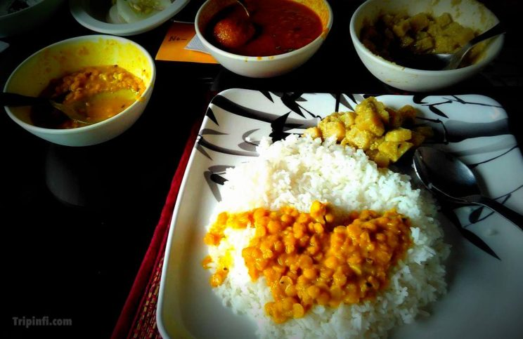 Kolkata food and Sweets - Alu posto , sukto , Cholar Dal - Tripinfi