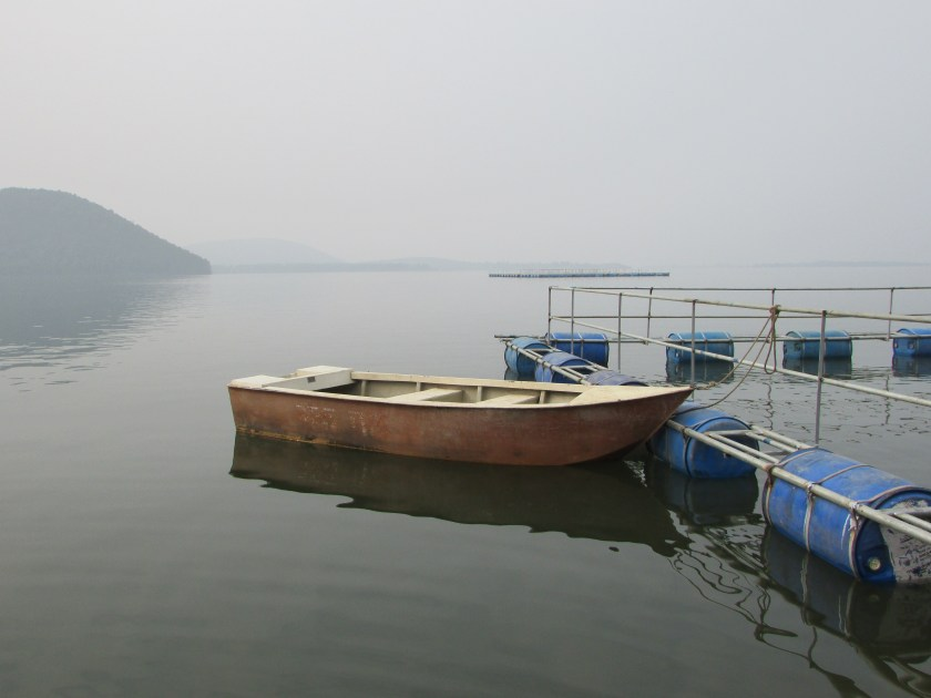 A boat in Chandil Dam