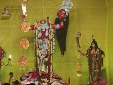 The Idol of Goddess Chinnamasta