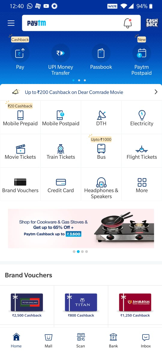 Paytm - DIgital payments app for India