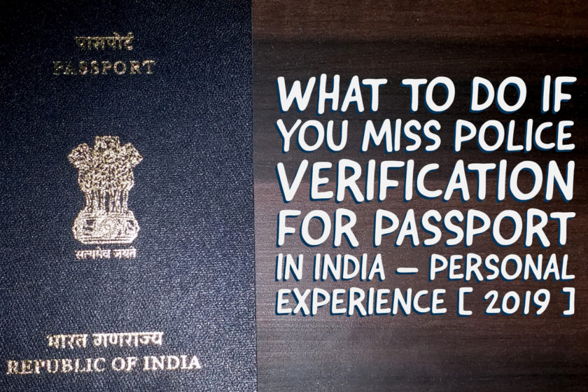 what will happen if we miss police verification for passport