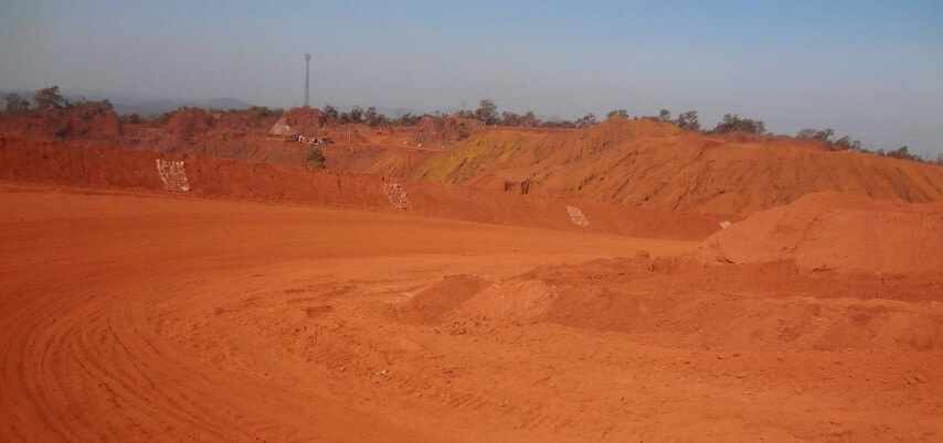 Red Soil due to the presence of iron ore -Tripinfi