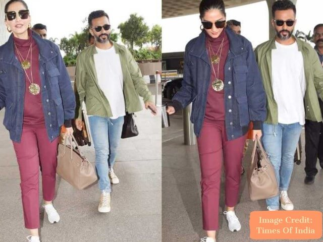 Anand and Sonam, Top 10 Airport Looks of Bollywood Couples For Your Next Trip - Tripinfi