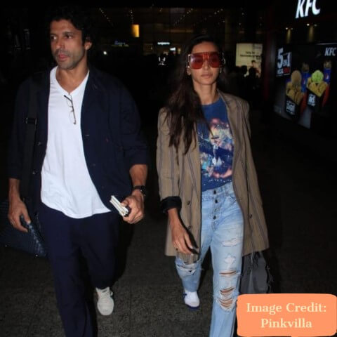 Farhan and Shibani, Top 10 Airport Looks of Bollywood Couples For Your Next Trip - Tripinfi