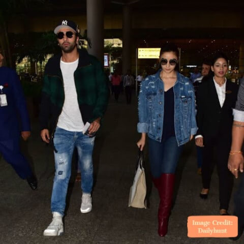 Ranbir and Alia , Top 10 Airport Looks of Bollywood Couples For Your Next Trip - Tripinfi