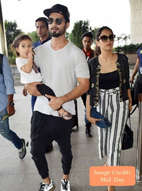 Shahid and Mira, Top 10 Airport Looks of Bollywood Couples For Your Next Trip - Tripinfi